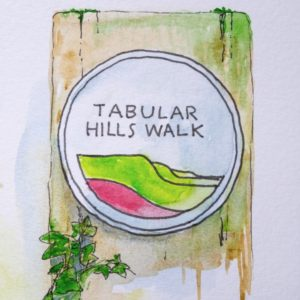 The Tabular Hills way-marker
