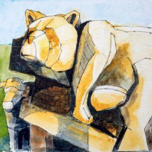 Bear woodcarving